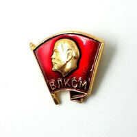 Communist National Russian Lenin Metal Pin Badge Komsomol USSR Soviet Rare Gift