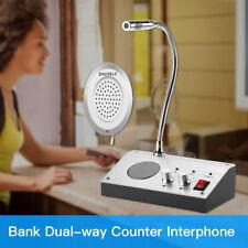 Dual-Way Window Glass Counter Intercom 9908 2W For Station Bank Hospital Office