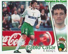 PABLO CASAR ESPANA RACING SANTANDER CROMO STICKER LIGA ESTE 2005 PANINI
