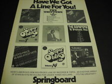 Dr. John Liberace Sam Cooke Lloyd Price others Original 1976 Promo Poster Ad