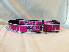 "R2-KT Hot Pink Star Wars Inspired Ribbon Collar 1""Adjustable Dog collar Droids"