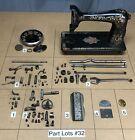 Singer 66 Redeye Sewing Machine Parts Lots Replacement Repair Restore Original