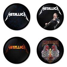 Metallica, rock, metal - 4 chapas, pin, badge, button