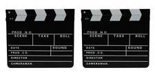 2x Filmklappe Regieklappe Clapperboard Regie Film Hollywood Klappe 30x26cm