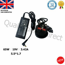 Fits Acer Aspire E15 Laptop Charger Adapter Power Supply 19V 3.42A 65W