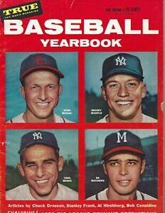 1956 True Baseball Yearbook magazine Mickey Mantle New York Yankees Musial Fr