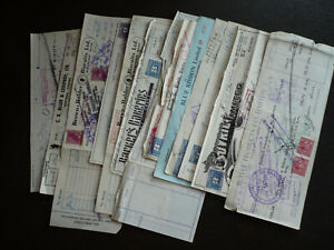 Revenues-Canada - Excise Tax & Stamps - 13 Different Time Drafts & Cheques