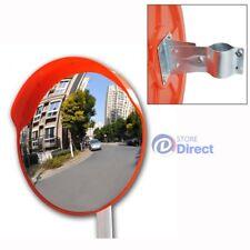 "60cm 24"" Traffic Safety Outdoor Mirror Round Convex Security With Bracket"