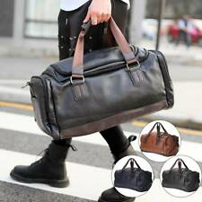 Mens Leather Duffle Weekend Bag Gym Large Travel Womens Luggage Handbag Holdall