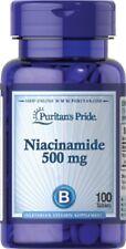 PURITANS Pride niacinamida 500mg X 100 tabletas de vitamina del complejo B