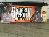 GUITAR HERO 3 LEGENDS of ROCK, PS2 2007 Striker guitar Missing dongle & disc