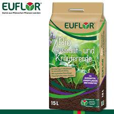 Euflor 15L Bio Aussaat- und Kräutererde Anzucht Beet Topf Wachstum Nährstoffe