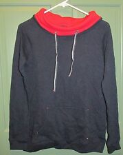 Hilfiger Womens Turtle Neck Color-blocked New Masters Navy Top Size XS