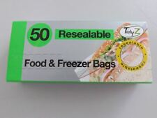 50 Resealable Fridge Freezer Bags Food Storage 8.5cm x 18cm