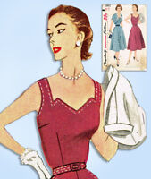 1950s Vintage Simplicity Sewing Pattern 3892 Uncut Misses Dress & Jacket Sz 32 B
