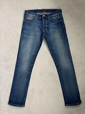 Men's Nudie Grim Tim Straight Stretch Jeans W32 L32 Fab (D122)