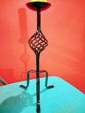 Black Solid Wrought Iron Decorative Candle Holder Stand