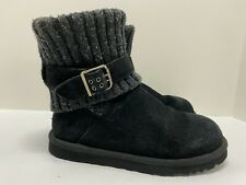 UGG Cambridge Knit Black Women's Boots Size 7