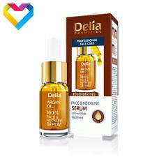 DELIA FACE & NECKLINE ARGAN OIL REGENERATING SERUM ANTI WRINKLE TREATMENT 10ml