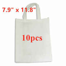 """10pcs White Blank Shopping Bags Tote DIY Bags Sublimation Non-woven 7.9"""" x 11.8"""""""