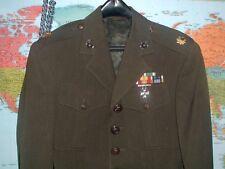 USMC MARINE CORPS OFFICERS ALPHA  JACKET COAT 37 X 23  W/  EGA'S & RIBBONS