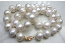 HUGE AAA+ 10-11MM South Sea White Baroque Pearl Necklace 18""