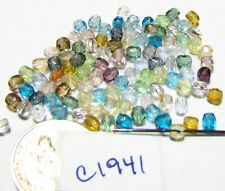 Czech Glass Faceted Rounds 3mm PASTEL COLOR MIX  Lot of 100  SPECIAL PRICE C1941