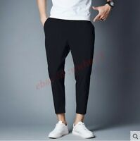 Leisure Mens Harem Chic Skinny Pants Fashion Summer Cropped Baggy Fit Trousers