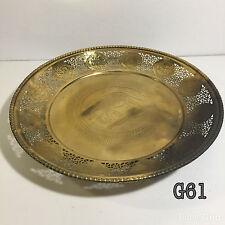 "Thai Royal Style 13"" Solid Cast Brass Dish Tray Food Fruit 12 Zodiac Animals Rim"