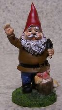 "Garden Accent Free Standing Gnome with a Hand Trowel New 4"" tall"