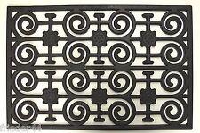 Gummimatte 50x75 cm schwarz Fußmatte rechteckig Gummifußmatte Schmutzfangmatte