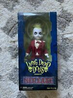 BEETLEJUICE Red Wedding Tuxedo Tim Burton Movie Living Dead Dolls RARE Mezco