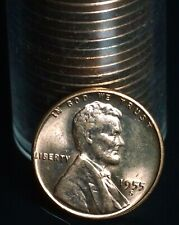 1955 S Lincoln Wheat One Cent 1C Coin Original Roll 50 Coins - 2