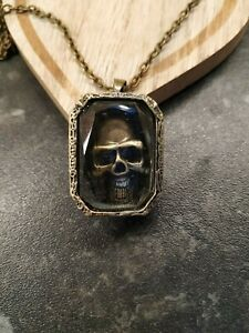 unisex skull 3d necklace