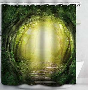 Enchanted Forest Path SHOWER CURTAIN Magical Trees Mystical Fantasy Fairy Tale