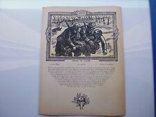 Gravure:guerre14-18: DEUX FRERES D'ARMES (POILUS) /Gravée sur bois de BROUTELLE
