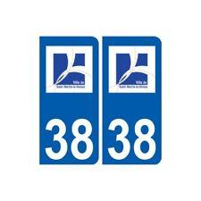 38 Saint-Martin-le-Vinoux logo ville autocollant plaque stickers