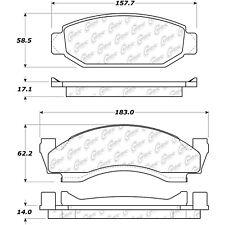 Posi-Quiet Metallic Disc Brake Pad w/Shims & Hardware-Preferred fits 1972-1979 M