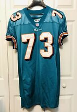 """Miami Dolphins AUTHENTIC NFL Team Issue Football Game Jersey Old Design #73 42"""""""