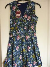 Joe Browns Navy Multi Floral Perfection Skater Dress UK 12 EUR 38-40 US 8