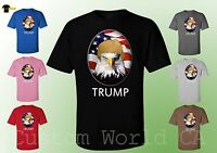 President Donald Trump American Eagle and Flag T-Shirt Funny Unisex Tee