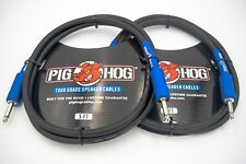 """2 pack 5' Speaker Cable 1/4""""  Amp Head Cable PHSC5 Pig Hog"""
