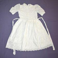 weich gehäkelt KINDER KLEID* 152  Blumenmädchen* Kommunion* Festkleid Prinzessin