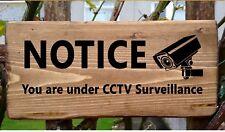 Segno Cctv Fotocamera Sistema Di Sicurezza Outdoor PIASTRA A PARETE CASA Cam Sorveglianza Porta