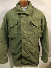 1971 Vietnam Ownbey Cold Weather Field Coat Army Green Liner Jacket Sz M Long US
