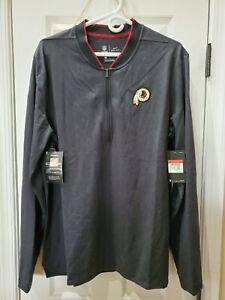 Nike Men's Washington Redskins 1/4 Pullover Zip Jacket Black Red
