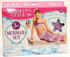 3 Pc. Mermaid's Tale Swimsuit Set Size M/L 9-12 New in Package by Aqua Splash