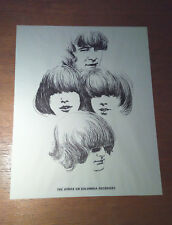 Byrds on Columbia Records Poster 1967 Vintage