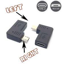 90 angle Type-C Female To Micro-B Micro male USB Charging Data otg adapter gm