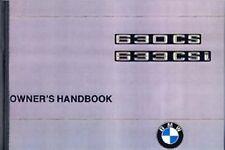 BMW 6 Series 630CS/633CSi handbook instruction manual book paper car